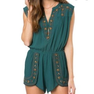 O'Neill emerald romper. New with tags. Med.